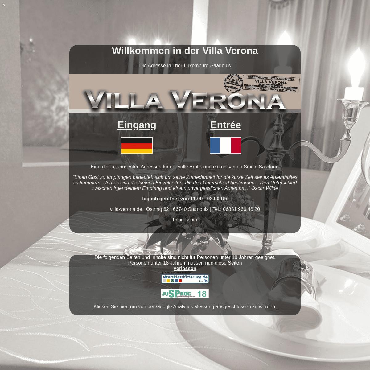 Villa Verona - Die Privatadresse in Trier-Luxemburg
