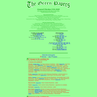 The Green Papers- United States General Election 2020