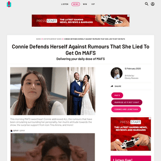 ArchiveBay.com - www.hit.com.au/story/connie-defends-herself-against-rumours-that-she-lied-to-get-on-mafs-149392 - Connie Defends Herself Against Rumours That She Lied To Get On MAFS - Hit Network