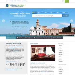 SabbaticalHomes.com - Academic Home Rental Exchange Sitting - est 2000