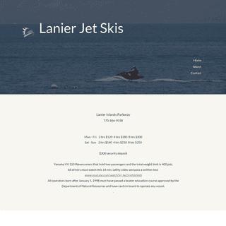 Lanier Jet Skis