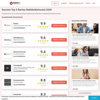 Suomen Top 5 Rentoa Nettideittisivustot 2020