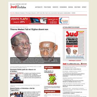 SudOnLine - Le Portail de Sud Quotidien SENEGAL - Actualité - Politique - Societe - Economie - Sport - Culture - International
