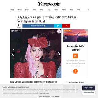 Lady Gaga en couple - première sortie avec Michael Polansky au Super Bowl - Purepeople