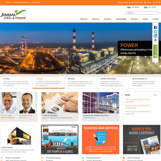 Jindal Steel & Power Ltd - Top Indian Multinational Conglomerate Company