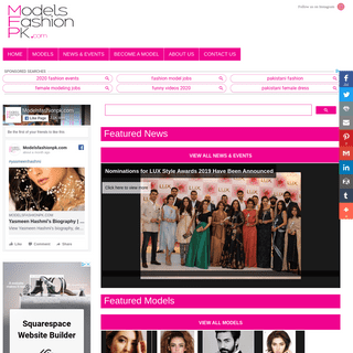 ModelsFashionPK.com - Pakistani Fashion news - Pakistani Events - Pakistani Male and Female Models - Portfolios - Biography - Fa