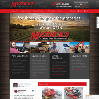 Messicks - Your home for New Holland, Case IH, Kubota & More...