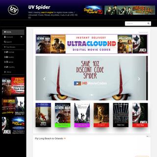 UVSpider.com Home of Ultraviolet, iTunes, Google Play, Disney and more digital movie codes