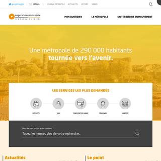AngersLoireMetropole.fr, Site officiel de la communauté urbaine d'Angers Loire Métropole