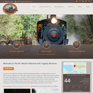 Steam Trains in WA - Mt Rainier Railroad & Logging Museum