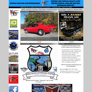 Pontiac, Oakland, and GMC Truck owners and enthusiasts - we invite you to join! - PONTIAC-OAKLAND CLUB INTERNATIONAL (POCI)