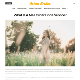 A Mail Order Bride Service - Find Your Soulmate In A Few Minutes
