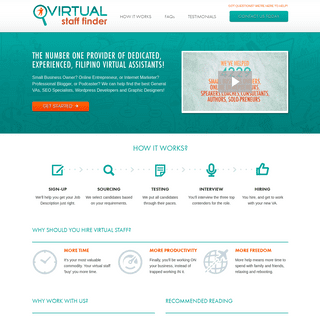Virtual Staff Finder - Virtual Assistant Match-Making for Busy Entrepreneurs