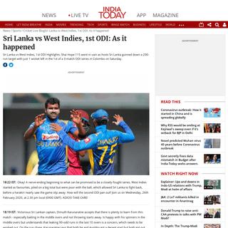 Sri Lanka vs West Indies (SL vs WI), 1st ODI- Live Cricket Score and Updates - IndiaToday