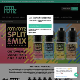 Nom Nomz - The best UK & USA DIY E liquid Flavour Concentrates UK