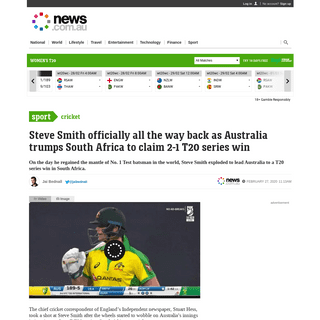 Cricket- Australia vs South Africa T20 - Steve Smith is officially back