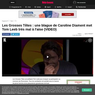 Les Grosses Têtes - une blague de Caroline Diament met Tom Leeb très mal à l'aise (VIDEO)