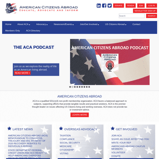 American Citizens Abroad, Inc. - American Citizens Abroad, Inc. - Educate, Advocate and Inform