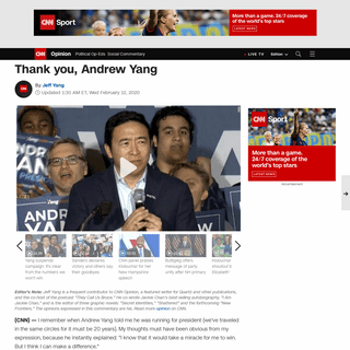Thank you, Andrew Yang (opinion) - CNN