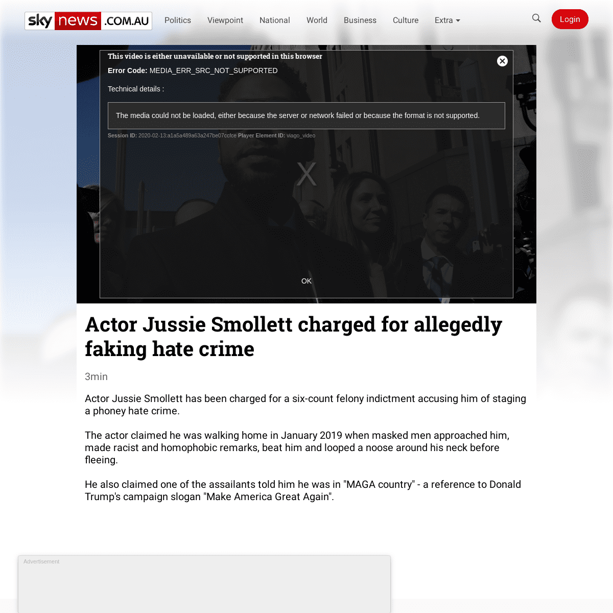 ArchiveBay.com - www.skynews.com.au/details/_6131804246001 - Actor Jussie Smollett charged for allegedly faking hate crime - Sky News Australia