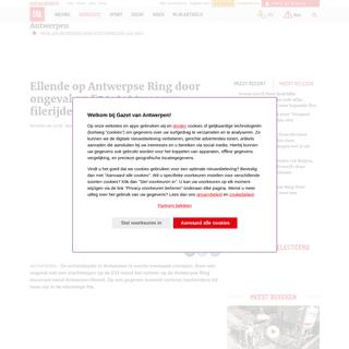 Ellende op Antwerpse Ring door ongeval op E34- tot twee uur ... (Antwerpen) - Gazet van Antwerpen