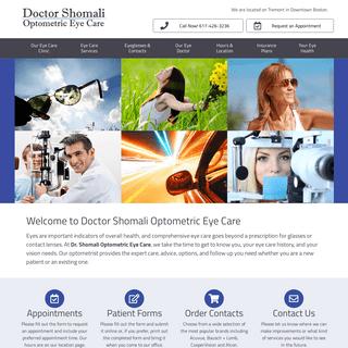 Welcome to Dr. Shomali Optometric Eye Care - Dr. Shomali Optometric Eye Care