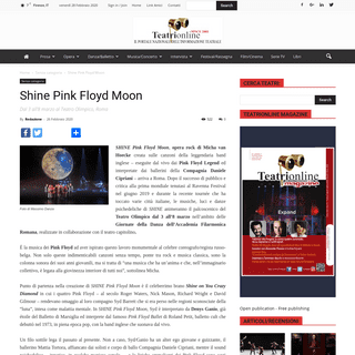 Shine Pink Floyd Moon - Teatrionline