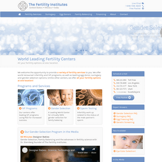 The Fertility Institutes - World Leading Fertility Centers, United States, Mexico and India