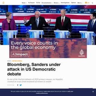 ArchiveBay.com - www.aljazeera.com/news/2020/02/bloomberg-sanders-attack-democratic-debate-200220032242696.html - Bloomberg, Sanders under attack in US Democratic debate - USA News - Al Jazeera