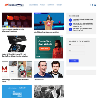NextBigWhat - The homepage of tech and product geeks.
