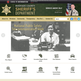 Riverside County Sheriff, CA - Official Website