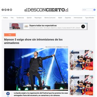 ArchiveBay.com - www.eldesconcierto.cl/2020/02/27/no-mas-interrupcines-maroon-5-exige-show-sin-intromisiones-de-los-animadores/ - Maroon 5 exige show sin intromisiones de los animadores - El Desconcierto