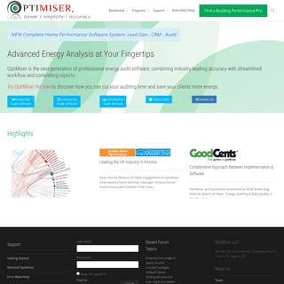 OptiMiser - Energy Audit Software Solutions