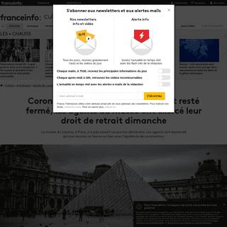 Coronavirus Covid-19 - le Louvre est resté fermé, les agents du musée ont exercé leur droit de retrait dimanche