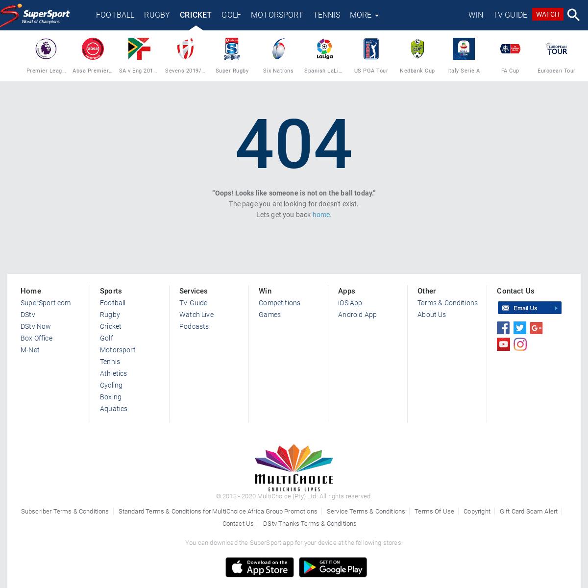 Error 404 - SuperSport
