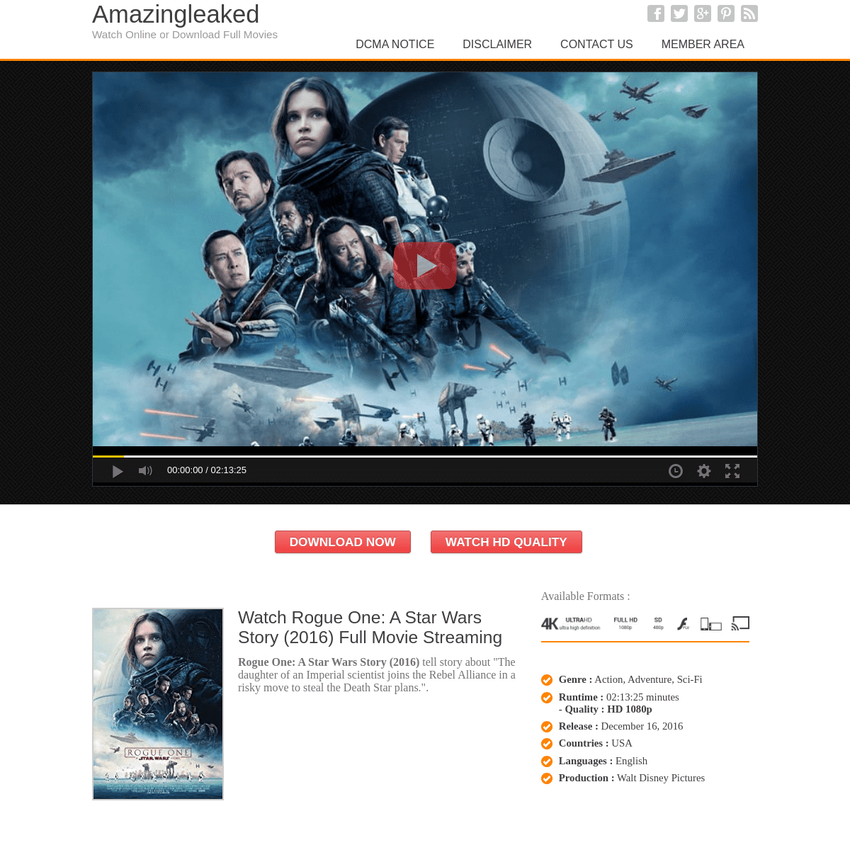 Watch Rogue One- A Star Wars Story (2016) - Full Movie Streaming