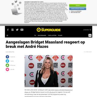 Bridget reageert op breuk met André - Superguide