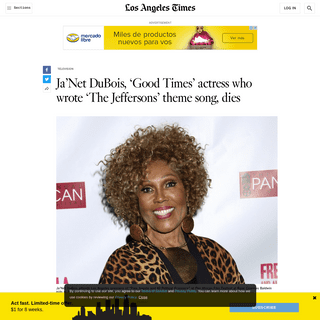 ArchiveBay.com - www.latimes.com/world-nation/story/2020-02-18/songwriter-and-good-times-actress-janet-dubois-dies - Ja'Net DuBois, 'Good Times' actress who wrote 'The Jeffersons' theme song, dies - Los Angeles Times