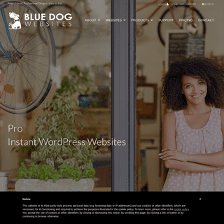 Blue Dog Instant WordPress Websites ready-made beautiful with plugins