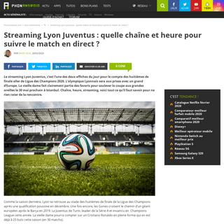 ArchiveBay.com - www.phonandroid.com/ol-juventus-streaming-quelle-chaine-heure-suivre-match-direct.html - Streaming Lyon Juventus - quelle chaîne et heure pour suivre le match en direct - - PhonAndroid.com