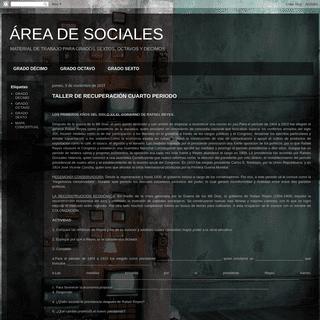 ÁREA DE SOCIALES