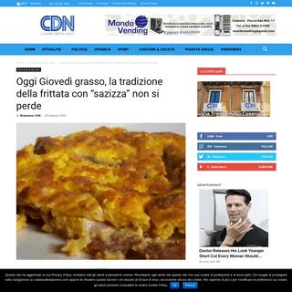 ArchiveBay.com - www.calabriadirettanews.com/2020/02/20/oggi-giovedi-grasso-la-tradizione-della-frittata-con-sazizza-non-si-perde/ - Oggi Giovedì grasso, la tradizione della frittata con -sazizza- non si perde - Calabria Diretta News