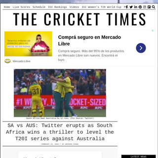 SA vs AUS- Twitter erupts as South Africa wins a thriller to level the T20I series against Australia – CricketTimes.com