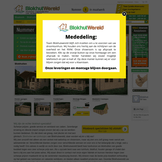 Blokhutten en tuinhuisjes - Blokhutwereld