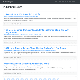 Published News - Bookmarking Fox