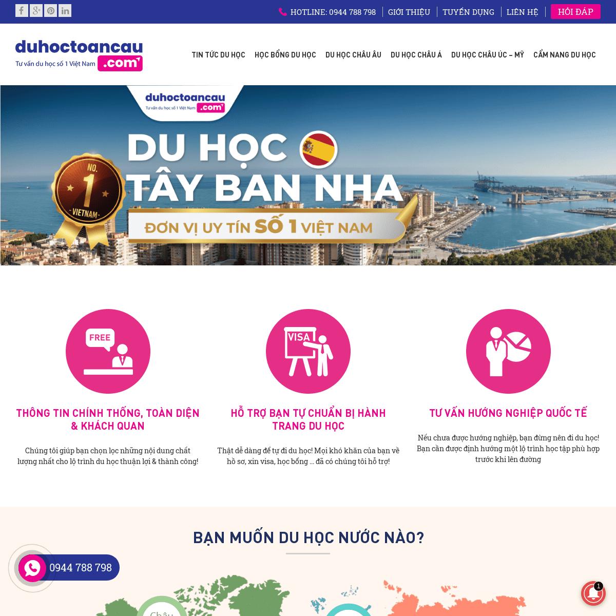 Duhoctoancau.com - Tư vấn du học số 1 Việt Nam