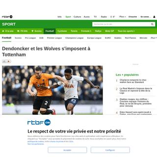 ArchiveBay.com - www.rtbf.be/sport/football/detail_dendoncker-et-les-wolves-s-imposent-a-tottenham?id=10445070 - Dendoncker et les Wolves s'imposent à Tottenham