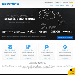 ArchiveBay.com - sobersys.com - Sobersys Algérie - Web SMS - Bulk SMS