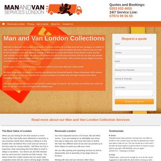Man and Van London Collections - Man-Van.co.uk