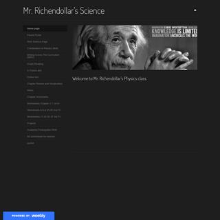 Mr. Richendollar's Science - Home page